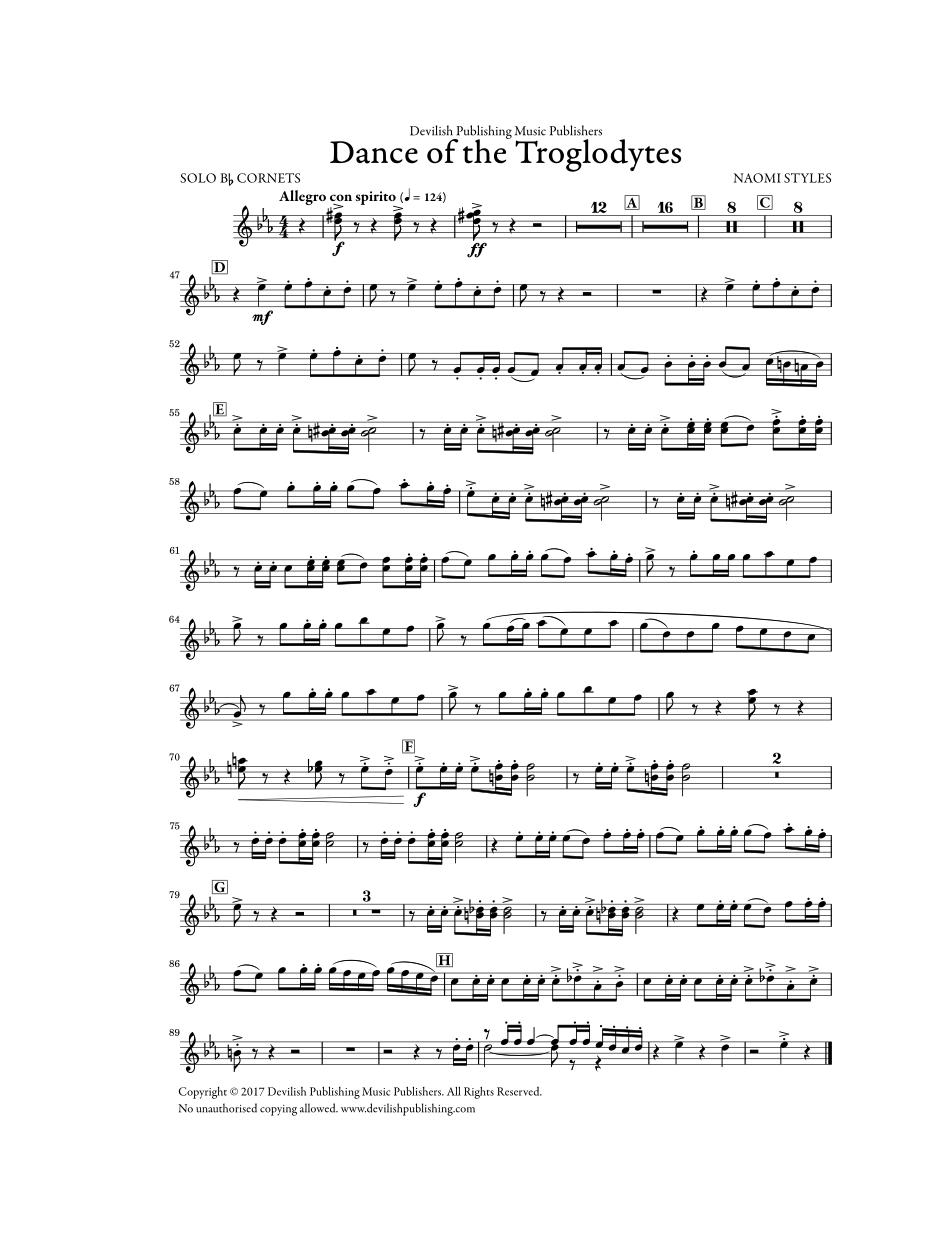 Dance of the Troglodytes - Solo Cornet